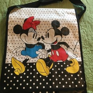 Disney Mickey and Minnie grocery messenger bags.